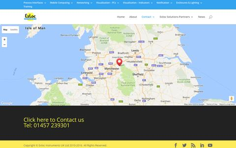 Screenshot of Maps & Directions Page exloc.co.uk - Map (UK) - Exloc Instruments UK - captured Nov. 13, 2016