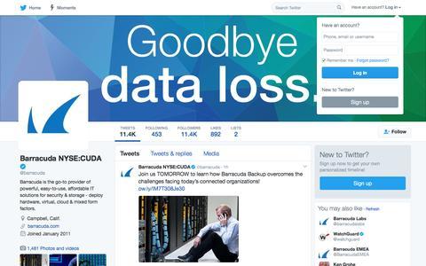 Barracuda NYSE:CUDA (@barracuda) | Twitter