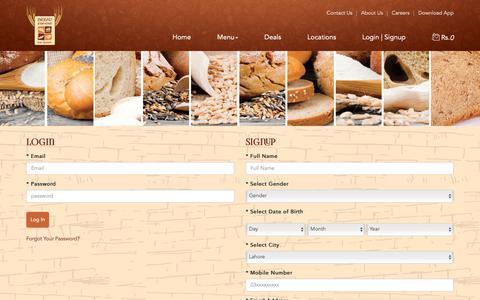 Screenshot of Signup Page breadbeyond.com - Bread Beyond - Just Baked - captured Nov. 6, 2018