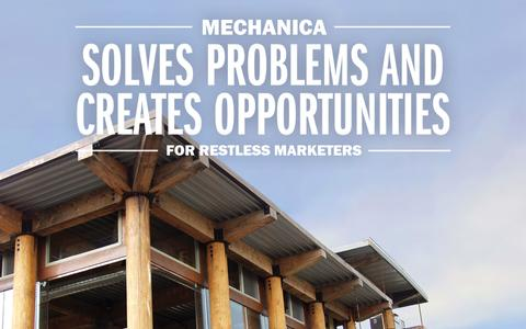 Screenshot of Home Page mechanicausa.com - MechanicaUSA MechanicaUSA » Solving problems and creating opportunities for restless marketers - captured Oct. 6, 2014