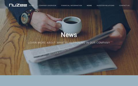 Screenshot of Press Page mynuzee.com - News – Nuzee - captured Oct. 18, 2018