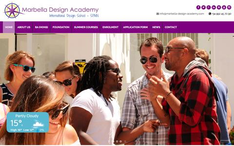 Screenshot of Home Page designschool.com - Marbella Design Academy - www.designschool.com - captured Jan. 14, 2016