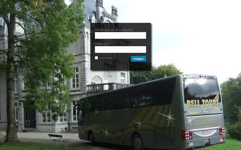 Screenshot of Login Page belltours.be - Bell Tours ‹ Inloggen - captured Oct. 9, 2017