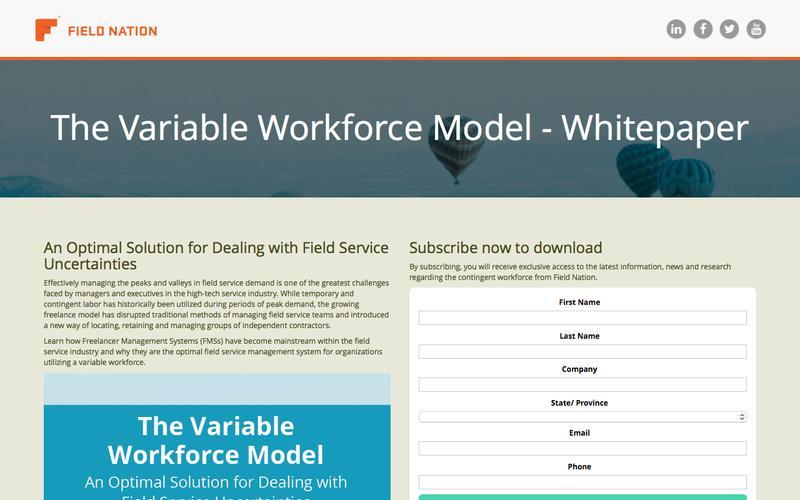 The Variable Workforce Model: