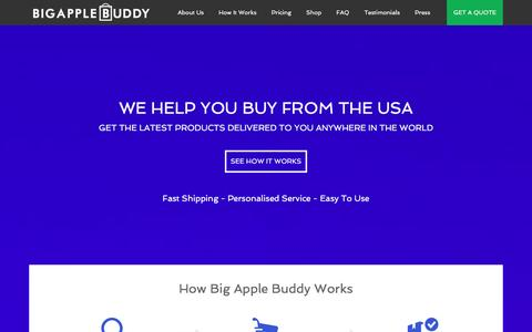Screenshot of Home Page bigapplebuddy.com - Big Apple Buddy | Helping You Buy From US Online Stores - captured Jan. 2, 2016