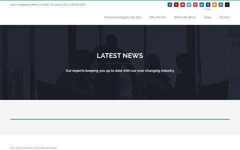 Screenshot of Press Page atlassrvs.com - News – Atlas Investigations - captured Oct. 2, 2018