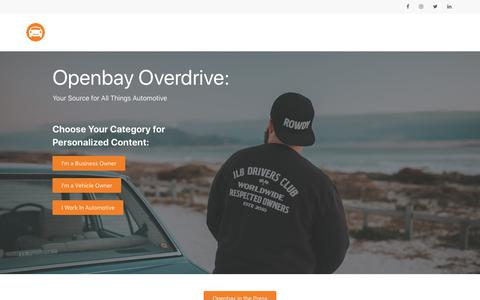 Screenshot of Press Page openbay.com - Openbay Overdrive | Openbay Overdrive - captured June 28, 2019
