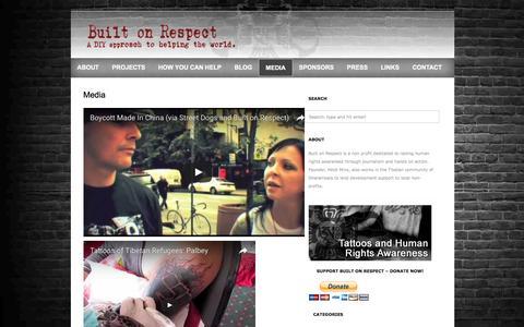 Screenshot of Press Page builtonrespect.com - Built On Respect  » Media - captured July 30, 2016