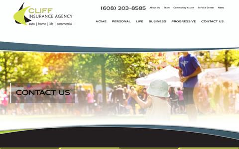 Screenshot of Contact Page cliffinsurance.com - Insurance Agency | Cliff Insurance - captured Dec. 15, 2018