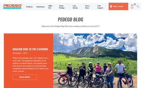 Screenshot of Blog pedegoelectricbikes.com - Blog - Pedego Electric Bikes - captured Nov. 6, 2019