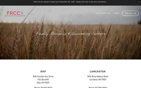 Screenshot of Contact Page squarespace.com - Contact Us — FRCC - captured April 8, 2017