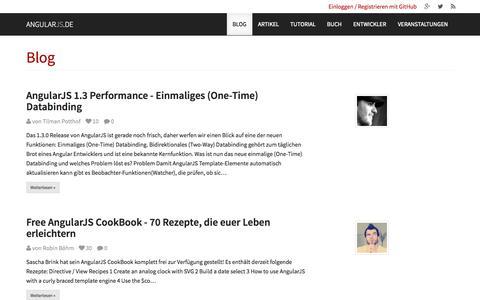 Screenshot of Blog angularjs.de - AngularJS.DE → Blog - captured Oct. 31, 2014