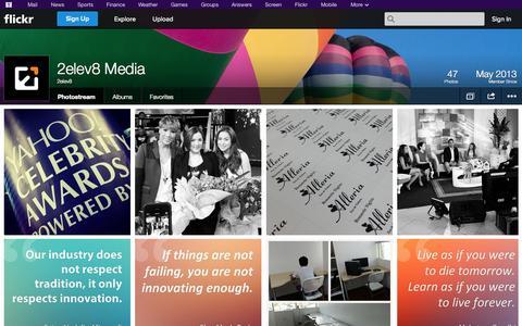 Screenshot of Flickr Page flickr.com - Flickr: 2elev8's Photostream - captured Oct. 27, 2014