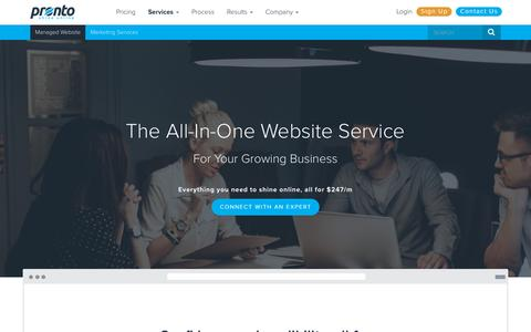 Small Business Website Design by Pronto Marketing