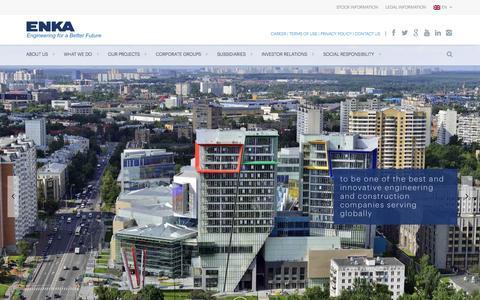 Screenshot of Home Page enka.com - ENKA Home - ENKA İnşaat ve Sanayi A.Ş - Resmi SitesiENKA İnşaat ve Sanayi A.Ş – Resmi Sitesi | Resmi Websitesi - captured March 3, 2016