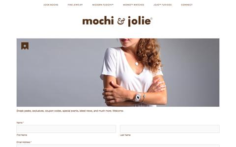 Screenshot of Signup Page mochiandjolie.com - JOIN — mochi & jolie - captured Feb. 14, 2016