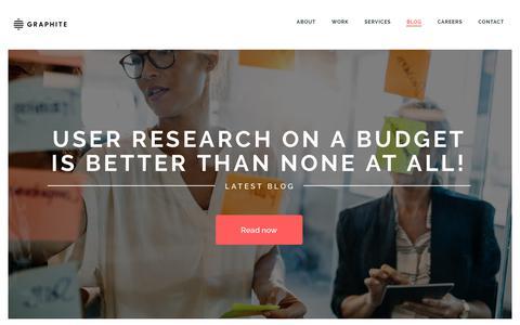 Screenshot of Blog graphitedigital.com - Digital Product Agency | Graphite Digital - captured Sept. 30, 2018