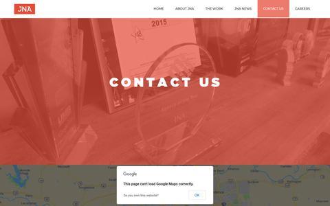 Screenshot of Contact Page jna-advertising.com - Contact Us - JNA Advertising - captured Nov. 1, 2018