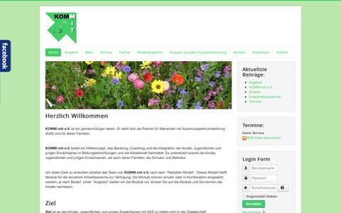 Screenshot of Home Page komm-mit.net - KOMM-mit - Home - captured Aug. 6, 2015