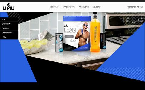 Screenshot of Products Page thelimucompany.com - Products - The LIMU Company | Be more - captured Sept. 30, 2014