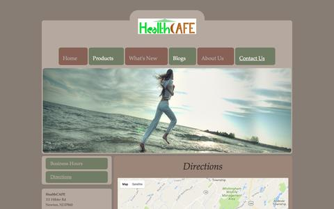 Screenshot of Maps & Directions Page health-cafe.com - Directions to HealthCAFE - captured May 10, 2017