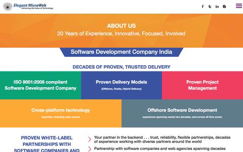 Screenshot of About Page elegantmicroweb.com - Elegant MicroWeb Offshore Software Development - captured Feb. 5, 2017
