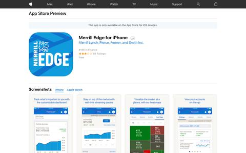 Merrill Edge for iPhone on the AppStore