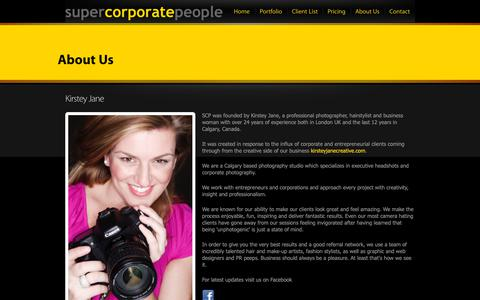 Screenshot of About Page supercorporatepeople.com - Super Corporate People | REALLY GOOD PEOPLE PICTURES! | About Us - captured Oct. 20, 2018