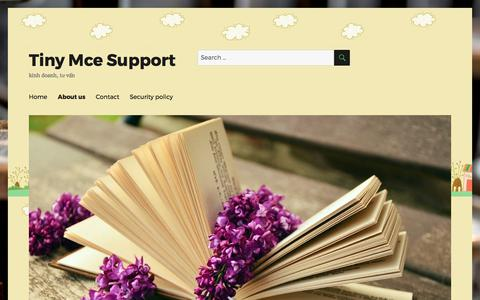 Screenshot of About Page tinymcesupport.com - About us - Tiny Mce Support - captured Oct. 27, 2017