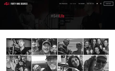Screenshot of About Page fortyninedegrees.com - THE TEAM — 49 DEGREES - captured Dec. 10, 2018