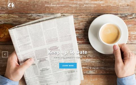 Screenshot of Home Page kosher.org.au - Australia's Most Trusted Kosher Certification Agency | Kosher Australia - captured Nov. 27, 2016