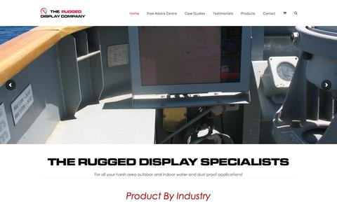 Screenshot of Home Page flatvision.co.uk - Flat Vision Products Ltd - The Rugged LCD Display Company - captured Nov. 6, 2019