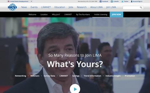 Screenshot of Signup Page licensing.org - Join LIMA   LIMA Licensing - captured Sept. 20, 2016