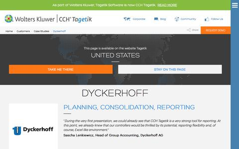 Screenshot of Case Studies Page tagetik.com - Case Study: Dyckerhoff | CCH Tagetik - captured July 5, 2017