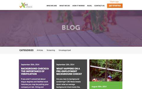 Screenshot of Blog xactcheck.com - Blog • Xact Check - captured Oct. 29, 2014
