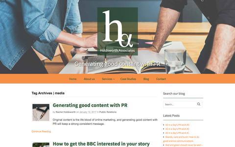 Screenshot of Press Page holdsworth-associates.co.uk - media Archives - Holdsworth Associates - captured July 21, 2018