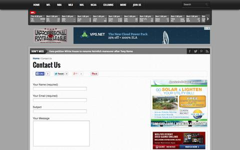 Screenshot of Contact Page theupfl.com - Contact Us - captured Oct. 1, 2014