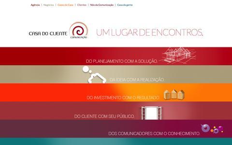 Screenshot of Home Page casadocliente.com.br - Casa do Cliente Comunicação - captured Sept. 30, 2014