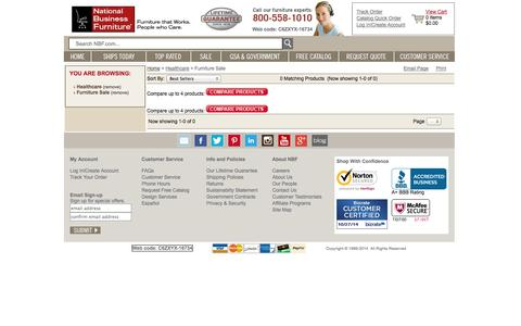 Screenshot of Landing Page nationalbusinessfurniture.com - Furniture Sale Healthcare and more Office Furniture - National Business Furniture - captured Oct. 27, 2014