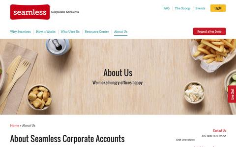 Screenshot of About Page seamless.com - About Us | Seamless Corporate Accounts - captured Nov. 23, 2016