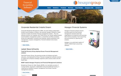Screenshot of Home Page hexagon-financials.co.uk - Hexagon Financials - CODA Dream - Accounting Software Resellers - captured Sept. 20, 2015