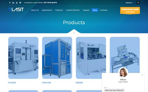 Screenshot of Products Page lasitlaser.com - Products News - LASIT - captured Sept. 27, 2018