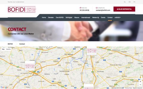 Screenshot of Contact Page bofidi.eu - Contact - BOFIDI - captured June 6, 2016