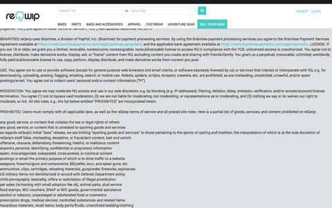 Screenshot of Terms Page reqwip.com - reQwip - captured Nov. 18, 2015