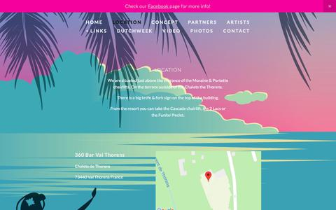 Screenshot of Locations Page 360-bar.com - Location — 360 Val Thorens - captured Sept. 20, 2018