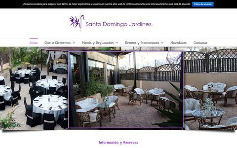 Screenshot of Home Page salonsantodomingo.com - Salon Santo Domingo Valencia – Salones para bodas, banquetes y celebraciones de empresa - captured Dec. 1, 2018