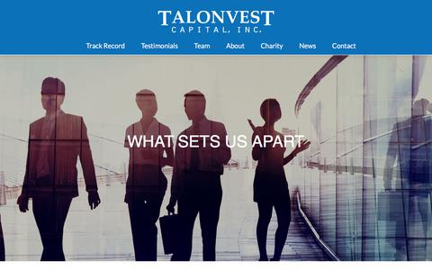 Screenshot of Testimonials Page talonvest.com - Testimonials – Talonvest Capital, Inc - captured Oct. 19, 2017