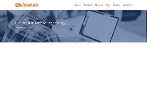 Blog | Shockoe Enterprise Mobile Development Solutions