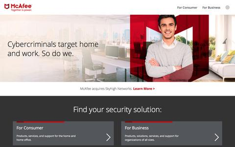 McAfee - Antivirus, Endpoint Security, Encryption, Firewall, Email Security, Web Security, Network Security