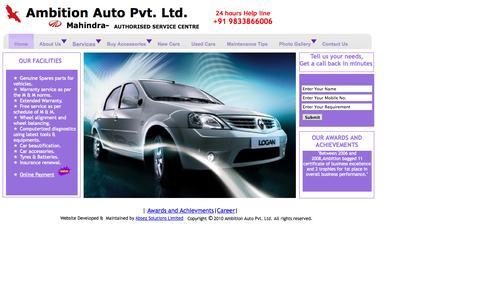 Screenshot of Home Page ambitionauto.com - .:::Home:::. - captured Oct. 4, 2014